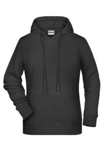 Ladies' Bio Hoody James & Nicholson - black