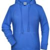 Ladies' Bio Hoody James & Nicholson - cobalt