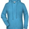 Ladies' Bio Hoody James & Nicholson - glacier melange