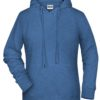 Ladies' Bio Hoody James & Nicholson - light denim melange