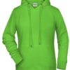 Ladies' Bio Hoody James & Nicholson - lime green