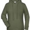 Ladies' Bio Hoody James & Nicholson - olive