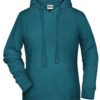 Ladies' Bio Hoody James & Nicholson - petrol melange