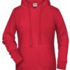 Ladies' Bio Hoody James & Nicholson - red