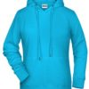 Ladies' Bio Hoody James & Nicholson - turquoise