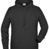 Men's Bio Hoody James & Nicholson - black heather