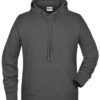 Men's Bio Hoody James & Nicholson - graphite