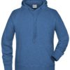 Men's Bio Hoody James & Nicholson - light denim melange