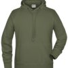 Men's Bio Hoody James & Nicholson - olive