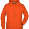 Men's Bio Hoody James & Nicholson - orange