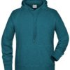 Men's Bio Hoody James & Nicholson - petrol melange