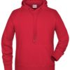 Men's Bio Hoody James & Nicholson - red