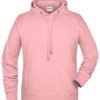 Men's Bio Hoody James & Nicholson - rose melange