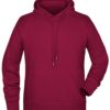 Men's Bio Hoody James & Nicholson - wine