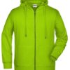 Men's Bio Zip Hoody James & Nicholson - acid yellow