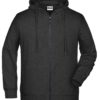 Men's Bio Zip Hoody James & Nicholson - black heather