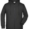 Men's Bio Zip Hoody James & Nicholson - black