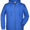 Men's Bio Zip Hoody James & Nicholson - cobalt
