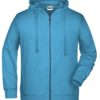 Men's Bio Zip Hoody James & Nicholson - glacier melange