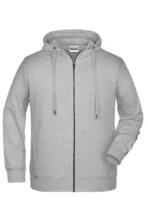 Men's Bio Zip Hoody James & Nicholson - grey heather
