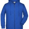 Men's Bio Zip Hoody James & Nicholson - ink melange
