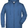 Men's Bio Zip Hoody James & Nicholson - light denim melange