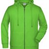 Men's Bio Zip Hoody James & Nicholson - lime green