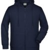 Men's Bio Zip Hoody James & Nicholson - navy