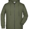Men's Bio Zip Hoody James & Nicholson - olive