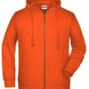 Men's Bio Zip Hoody James & Nicholson - orange