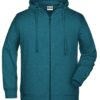 Men's Bio Zip Hoody James & Nicholson - petrol melange
