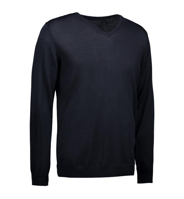 Identity V-Neck Pullover - navy