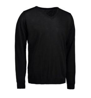 Identity V-Neck Pullover - schwarz