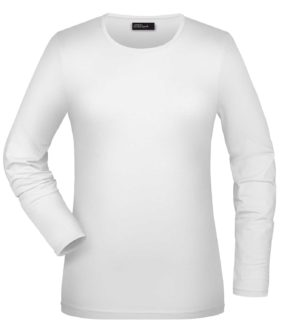 Tangy-T Long-Sleeved James & Nicholson JN054 - white