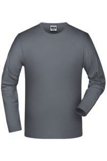 Elastic-T Long-Sleeved James & Nicholson - mid grey