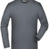 Elastic-T Long-Sleeved James & Nicholson - mid grey