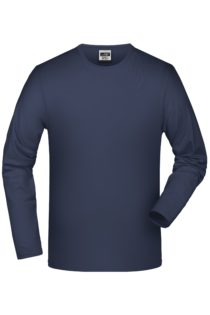 Elastic-T Long-Sleeved James & Nicholson - navy