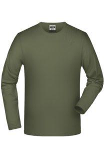 Elastic-T Long-Sleeved James & Nicholson - olive