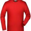 Elastic-T Long Sleeved James & Nicholson - red