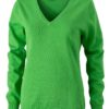 Ladies' V-Neck Pullover James & Nicholson - green