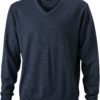 Men's V-Neck Pullover James & Nicholson - anthracite melange