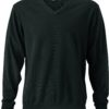 Men's V-Neck Pullover James & Nicholson - black