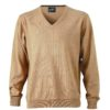 Men's V-Neck Pullover James & Nicholson - camel