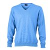 Men's V-Neck Pullover James & Nicholson - glacier blue