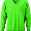 Men's V-Neck Pullover James & Nicholson - green