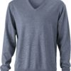 Men's V-Neck Pullover James & Nicholson - grey heather