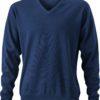 Men's V-Neck Pullover - navy