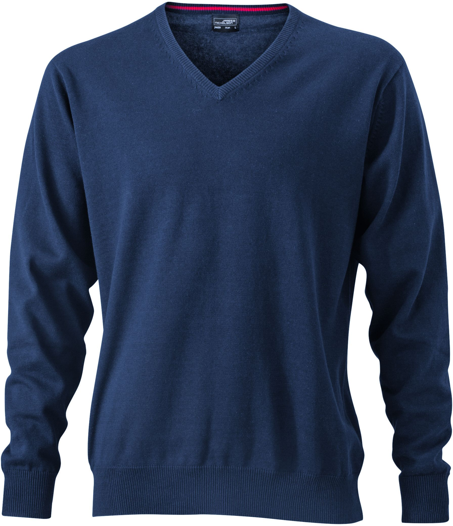 Men's V-Neck Pullover - navy