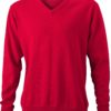 Men's V-Neck Pullover James & Nicholson - red