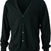 Men's V-Neck Cardigan James & Nicholson - black